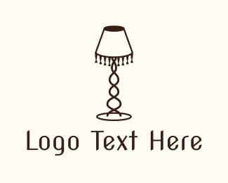 Interior - Retro Lamp logo design