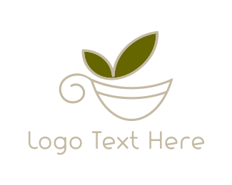 Herbal Tea - Green Tea logo design