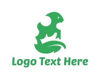 Sheep - Green Goat logo design
