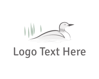 Lake - White Duck logo design