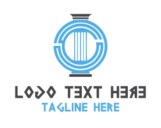 Ancient - Greek Column logo design