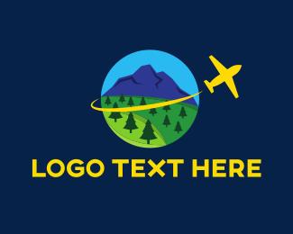Airplane - Yellow Airplane logo design