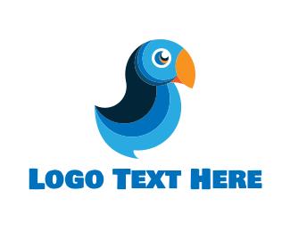 Twitter - Blue Macaw logo design