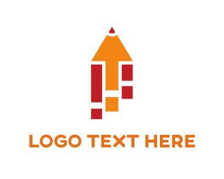 Preschool - Orange Pencil logo design