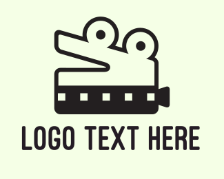 Youtube - Crocodile Film logo design