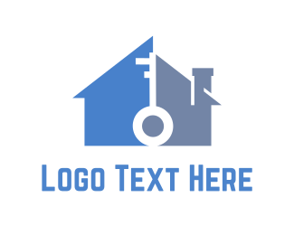 Lock - Home & Key logo design
