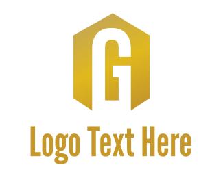 Glory - Gold Hexagon G logo design