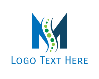 Physical Therapy - Chiropractic Letter M logo design