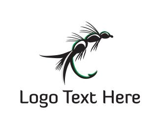 Mosquito - Fishing Bait logo design