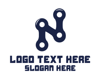 Bicycle - Cyclist Letter N logo design