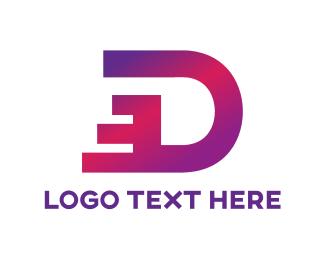 Distributor - Dashing Letter D logo design