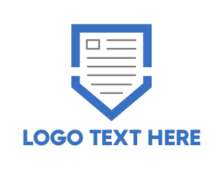 Contract - Blue Shield Document  logo design