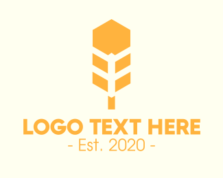 Archer - Hexagon Wheat logo design