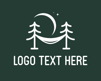 Sleeping - Pine Hammock logo design