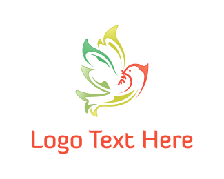 Watercolor - Pigeon & Olive logo design