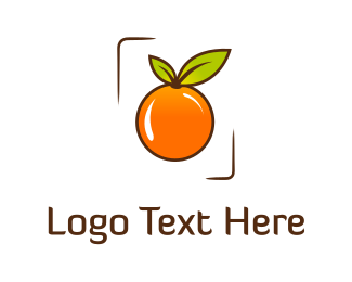 Green And Orange - Orange Frame logo design