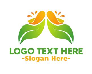 Orange Juice - Juicy Leaf logo design