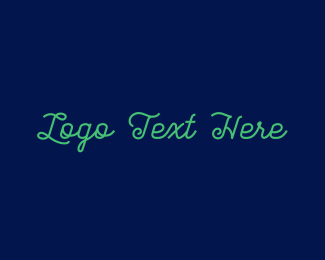 Squarespace - Green Stylish Text logo design