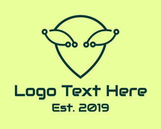 Martian - Alien Tech logo design