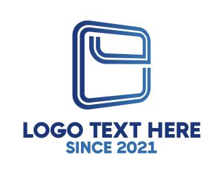 Clear - Squared Letter E logo design