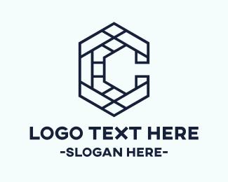 California - Letter C Mosaic logo design