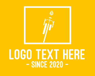 Ride - Yellow Bike logo design