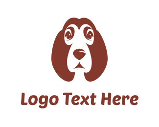 Grooming - Brown Puppy logo design
