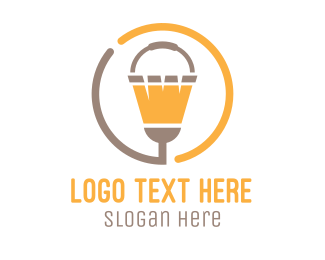 Cleaner - Bucket & Broom Circle logo design