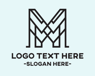 Monogram - Abstract M logo design
