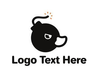 Grenade - Duck Bomb logo design