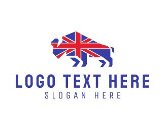 British - British Bison logo design