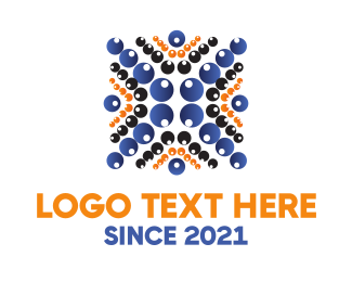 Detail - Letter X Bubbles logo design
