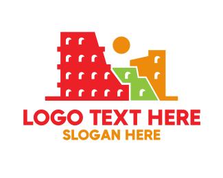 Trip - Colorful Ancient City logo design