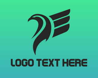 Airlines - Abstract Eagle Wing logo design