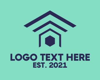 Connection - Home Signal logo design