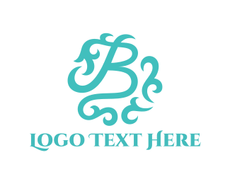 Text - Mint Letter B logo design