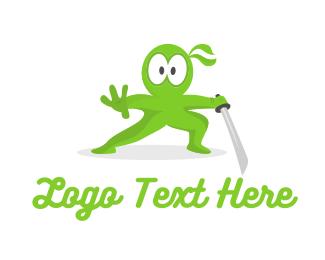 Marketing - Green Ninja Shock logo design