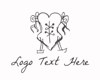 French - Love Corset logo design