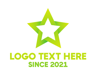 Hollywood - Green Star logo design