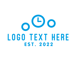 Time - Bubble Clock logo design