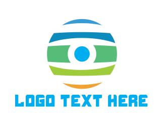 Paint - Colorful Eyeball logo design