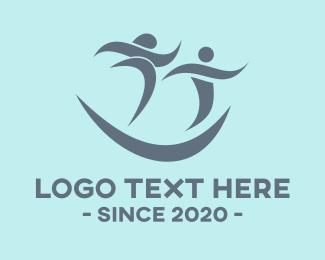 Running - Happy Marathon logo design
