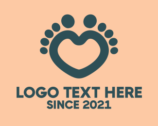 Foot - Feet Heart logo design
