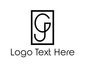 Letter J - G & J logo design
