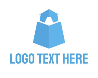 Tent - Light Blue Tower logo design