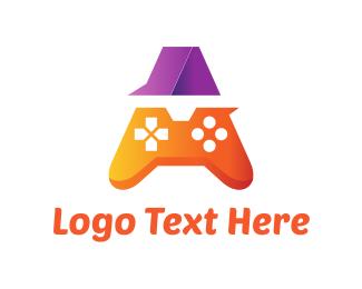 Console - Orange Game Controller A logo design