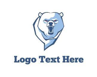 Soccer - Angry Bear logo design
