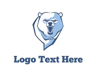 Roar - Angry Bear logo design