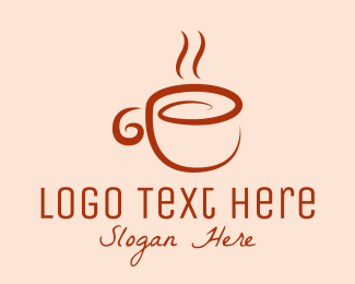 Milk - Orange Tea logo design