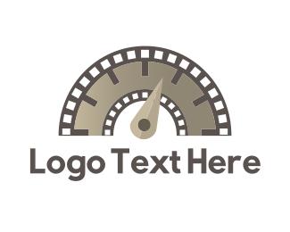 Filmstrip - Flimstrip Meter logo design